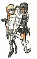 Paperdoll1 Athena and Emmanule by StygianRecluse