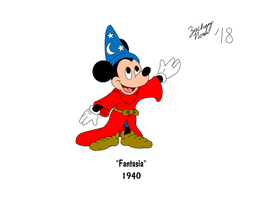 Mickey's 90th Birthday - Fantasia by ZacharyNoah92