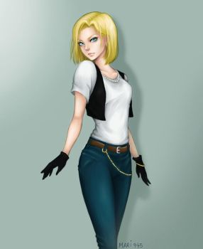 Android 18 by Mari945