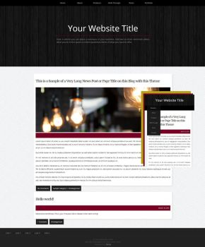 Studio INFD Responsive Wordpress Theme - $5 by BurningBrightDesigns