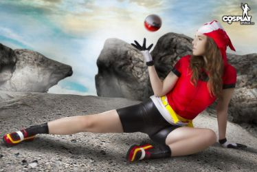 Cassie cosplaying May (Pokemon) by cosplayerotica