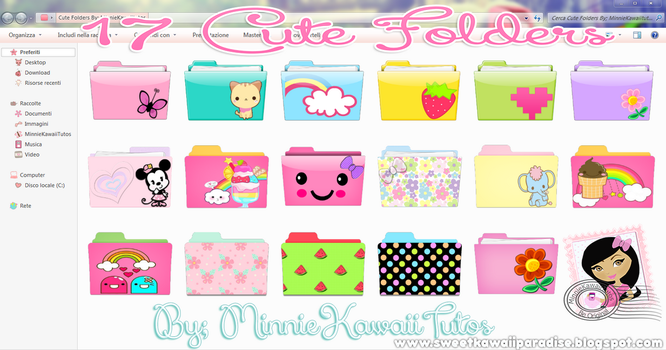 17 Cute Folders By MinnieKawaiiTutos by MinnieKawaiiTutos