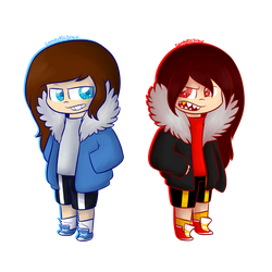 Cosplaying Sans UT - UF by CandyAICDraw
