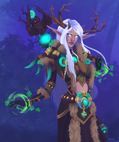 Night Elf Druid by AzuraLynx
