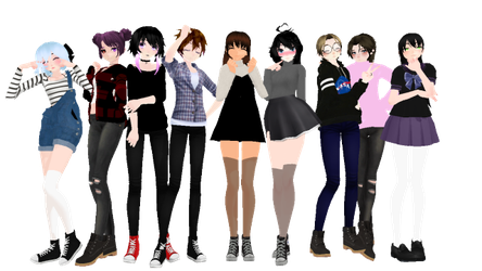 Ask/Dare My OCS+ me by Alex-MMD-Studios