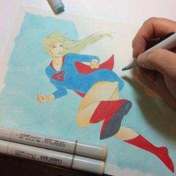 Super Girl - shading skin / background base color by Nana-Marchae
