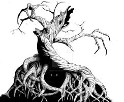 Creepy Tree by Tyler-Blake