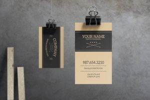 Sabre - Vintage Business Card Template by macrochromatic