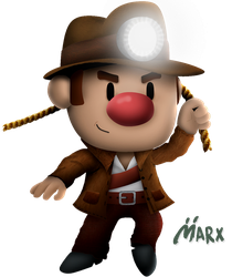 Spelunky | Smashified TRANSPARENT by MarxallyHD