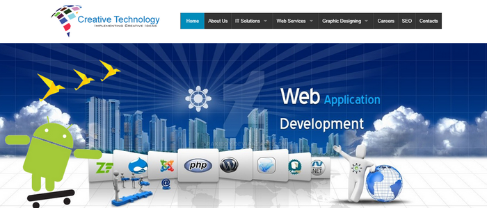 Creative Technology website design by pakiboy