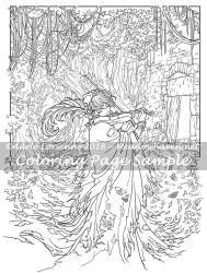 Art of Meadowhaven Coloring Page: Widdenawel by Saimain