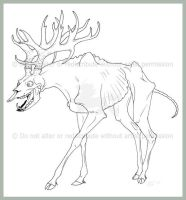 Undead Deer by Freha