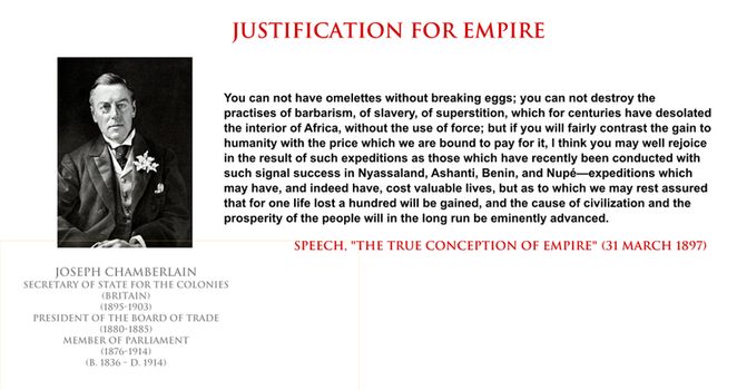 Joseph Chamberlain - justification for empire by YamaLama1986