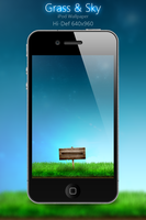 Grass and Sky iPod Wallpaper by Zedj