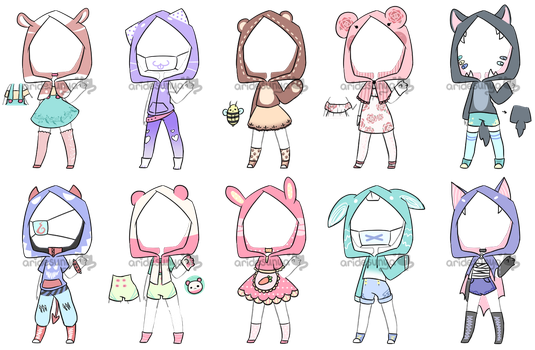 [OPEN 3/10] HOODIE OUTIFT ADOPTS by aridesunya