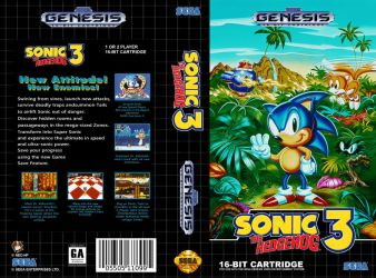 VHS Genesis| Sonic the Hedgehog 3 - Cover Art by Neo-the-Hedgefox