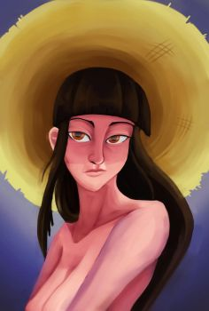 Nothing but a sunhat by Feldiarts