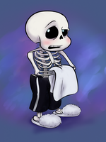 Sans topless by ColossalStinker