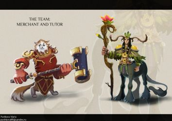 NPC design: tutor and vendor by DancingWitch