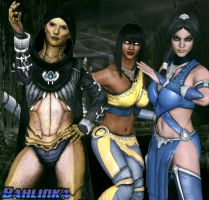 Dvorah,Tanya and Kitana by Bahlinka