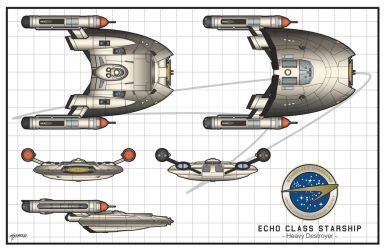 Echo Class Heavy Destroyer by stourangeau