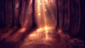 Light in the Forest ( auction CLOSED) by ryky