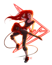 Guitar girl by Kate-FoX