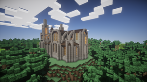 Minecraft small church by apromede