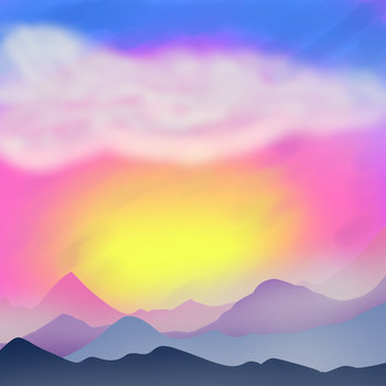 Weird Colorful Sunset by NataliaDriscol
