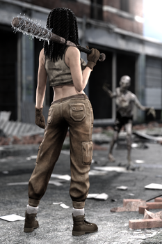 Gina in the zombie apocalypse by FranPHolland