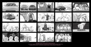 Saudi Pizza B/W Storyboard by MissChatZ