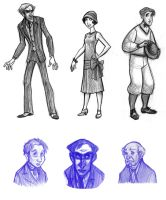 1920s Characters by heatherbunny