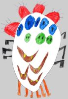 five-eyed four-mouthed three-nosed monster by feldrand