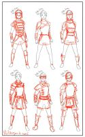 Rita's armor sketches by Mildegard