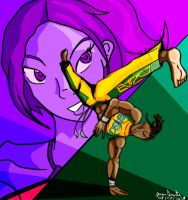 Eddy Gordo and Christie Monteiro by DesenhoExperiment