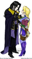Collab. - Alucard and Sonia by LauraBelmont