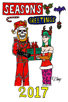 Demonic Couple Christmas Celebration 2017 by StealthNinja5