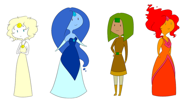 Elemental Princesses by ratopiangirl
