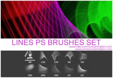 Lines Photoshop Brushes Set by CommunicAnimation