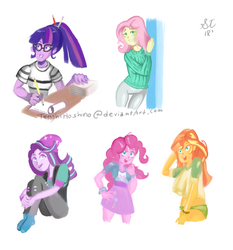 MLP:EG Digital Painting by TenshiHoshino