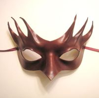 Dark Red Leather Mask by teonova