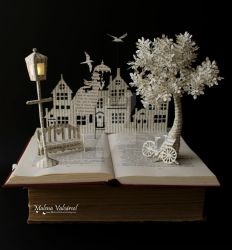 Mary Poppins Book Sculpture by MalenaValcarcel