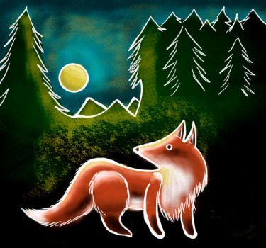 Skribble-fox by valurauta
