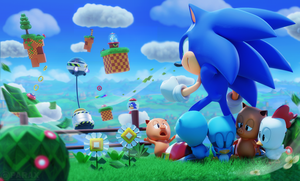 Happy 27th Birthday Sonic! by BlueParadoxYT