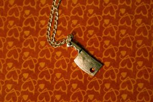 The Tiny Butcher Necklace by MonsterBrandCrafts