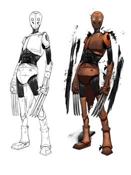 Robot character game concept by Cruiser18