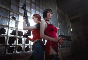 Resident Evil - Ada Wong, Claire Redfiel by BeataVargas