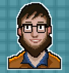 Pixel dude face by UsamahDraws
