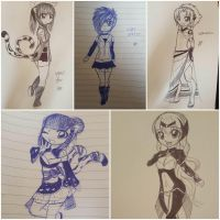 Pen Sketches by VynalLine