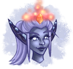 Chibi Headshot - Nightborne Female by TaraOBerry